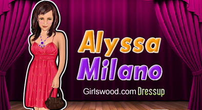 Help Alyssa Milano dress up in celebrity fashion for the red carpet