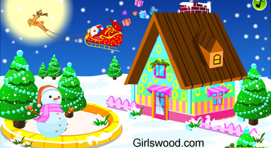 Christmas decorating houses games